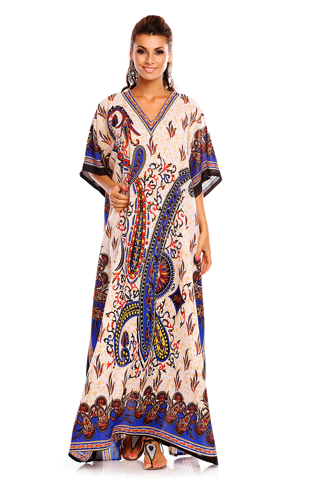 Brand New and High Quality Kaftan dress also can be used as beach Floerns Women's Short Sleeve Oversized Maxi Kaftan Dress. (US Dress Size W, UK Size , EU Size ) Goood Times Plus Size Kaftan Dress Tunic Long Maxi Kimono Caftan Gown Nightdress Beach Party Casual Dress. by Goood Times.