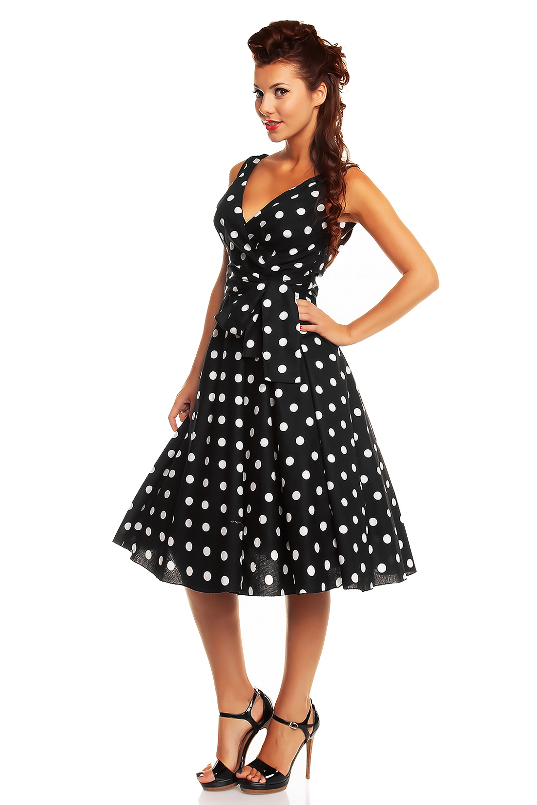 Ladies Marilyn 1950's Rockabilly Polka Dot Retro Swing ...