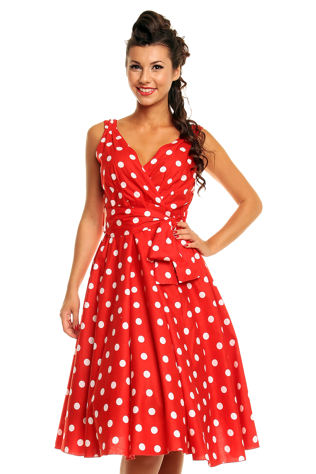 Ladies Marilyn 1950 S Rockabilly Plus Size Polka Dot Retro
