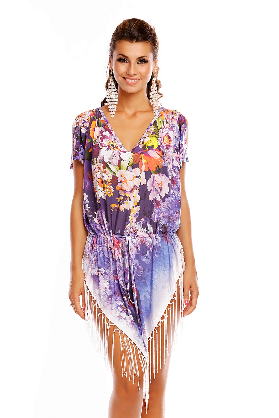 Ladies Summer Tunic Kaftan Pool Beach Cover Up