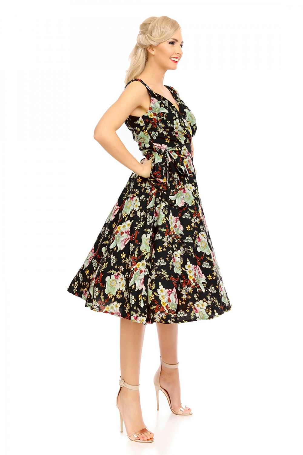 Retro Vintage 1950s Quot Marilyn Quot Pin Up Swing Dress