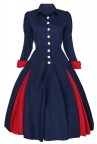 Ladies Edwardian Vintage Retro Swing Victorian Coat Dress