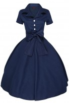 Ladies Retro Collared 1950's Party Summer Dress