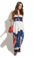 Ladies Full Length Summer Holiday Maxi Dress Dye Effect