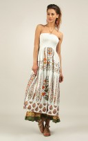 Ladies Anmol Brown Summer Sleeveless Holiday Retro Maxi Dress