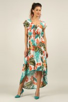 Ladies Anmol 4032 Summer Cap Sleeve Holiday Maxi Dress