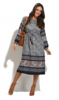 Ladies Tribal Boho Aztec Oversized Shirt Dress
