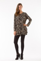 Ladies Long Sleeved Slouch Top Knitted Jumper Over Sized Fit