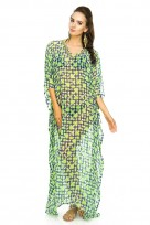 Ladies Full Length Kimono Maxi Summer Beach Throw Kaftan Dress Free Size