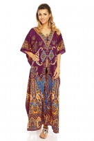 Ladies Full length Oversized Maxi Kimono Tunic Kaftan Gown Dress