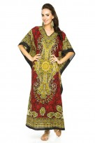 "Plus Size 52"" Long Batwing Sleeve Maxi Kaftan Dress"