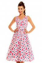 Pink Sunflower Ladies 50's Retro Vintage Dress