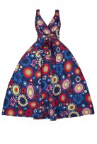 Ladies Retro Vintage 1950's Rockabilly Swing Summer Party Pin Up Prom Floral Dress Size