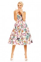 Retro Vintage 1950's Rockabilly Butterfly Swing Dress