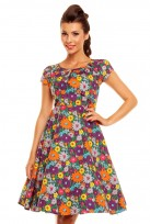 Ladies Purple 40's-50's Vintage  Inspired Retro Tea Cocktail Dress