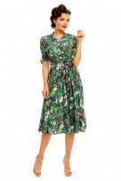 "Ladies Retro Vintage 1940's ""Maria"" Birds Of Paradise  Shirt Dress"