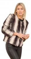 Ladies Faux Fur Jumper Style Jacket Coat
