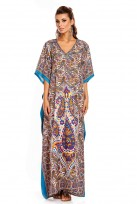 "Plus Size 52"" Long Black Batwing Sleeve Maxi Kaftan Dress"