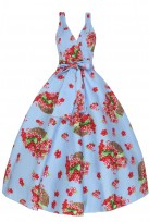 Ladies Retro Vintage 1950's Cross Over Party Dress