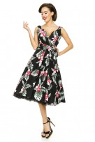 Classic 1950's Retro Vintage Rockabilly Swing Pin Up Dress