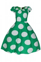 Ladies Green 40's-50's Vintage Retro Tea Cocktail Dress