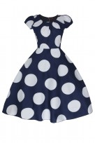 Ladies Navy 40's-50's Vintage Retro Tea Cocktail Dress