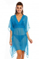 Ladies V Neck Summer Beach Pool Holiday Kimono Kaftan Throw