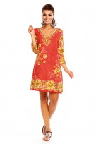 Boho Festival Tribal Tunic Top Dress In Red