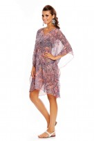 Ladies Purple Light Beach Cover Up Tunic Kimono Sheer Kaftan