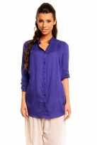 Ladies Blue Mina 3/4 Sleeve Tunic Top Shirt