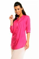 Ladies Pink Mina 3/4 Sleeve Tunic Top Shirt