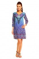 Blue Ladies Lolly Long Sleeved Tunic Top